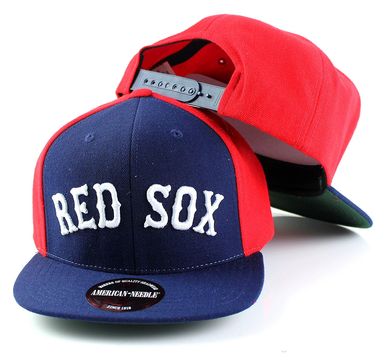 c5e522a1ba73eb Get Quotations · MLB American Needle Scripteez Cooperstown Wool Adjustable Snapback  Hat (Boston Red Sox)