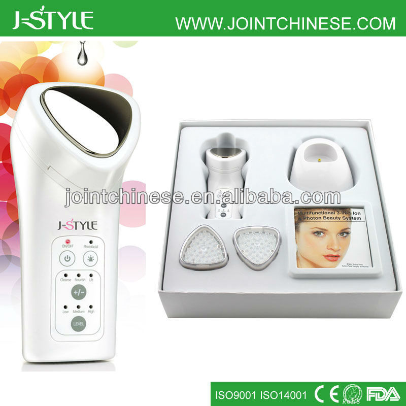 Rechargeable Home Use 3-in-1 Photon IPL Galvanic Beauty Cosmetic Venus