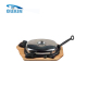 cow shape cast iron steak plate/sizzler pan with iron cover& handles