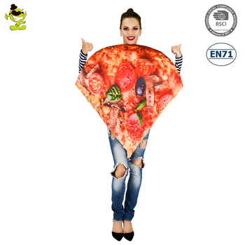 2017 Adults Womens Slice Of Pepperoni Pizza Halloween Funny Food