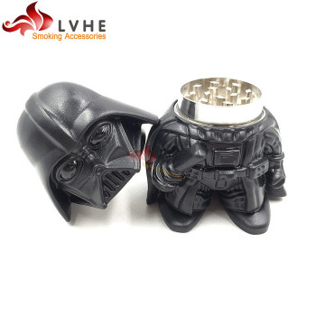 T166GM LVHE Tolly Popular Toys Darth Vader Design Zinc Tobacco Grinder