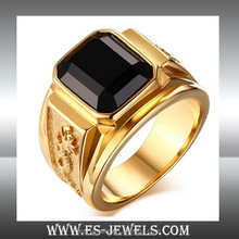 jewelry factory wholesale 18k gold plated men ring