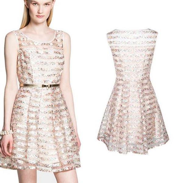 85faadea4 Get Quotations · 2015 Summer Style Women Dress Print Floral Summer Dress  Cute Sundress Organza Dresses Party Vestido Princess