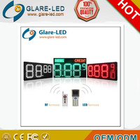 factory price new products 12inch 3 digit LED GAS PRICE SIGN CHANGER