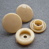 Wholesale T5 12mm khaki color PP plastic snap fastener for jacket snap buttons for baby bib