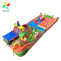 2017 Hot Design Outdoor Inflatable dinosaurs trampoline with maze for Kids /wholesale inflatable trampoline price