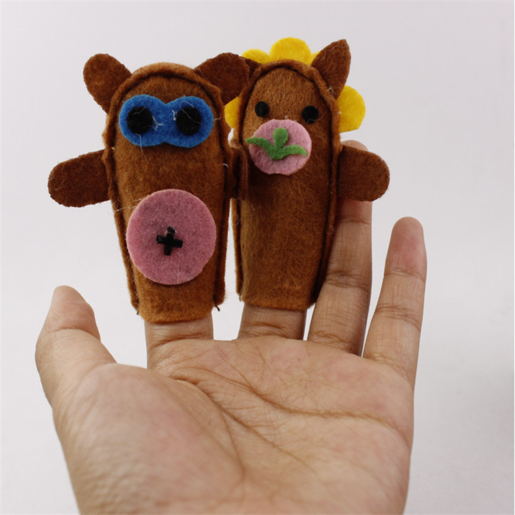 promotion animal toys mini plush felt finger puppet for kids