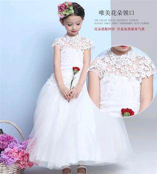 aea8ab716b1e lungo parte occidentale di usura bambino bianco ragazze abito da sposa  nuovo modello di vestito dalla