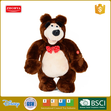 Russian cartoon image masha and the bear 43 inch Soft toys Plush stuffed animal toys Masha bear with sound for kids