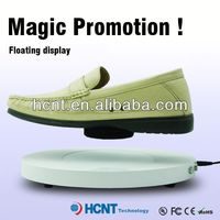 new invention ! magnetic levitating led display stand for shoe woman,ivory silk shoes