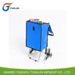 6 Wheel Personal folding shopping cart trolley for climbing stair