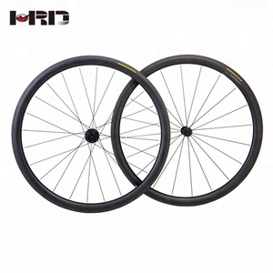 Hot Sale HRD002D 38 mm Clincher Rims 28 mm High-end Customized colored Road Bike 700C Carbon Bike Wheel