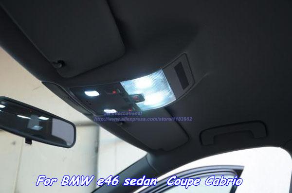 canbus voiture led int rieur ampoule kit xenon blanc pour voiture bmw e46 berline coup cabrio. Black Bedroom Furniture Sets. Home Design Ideas
