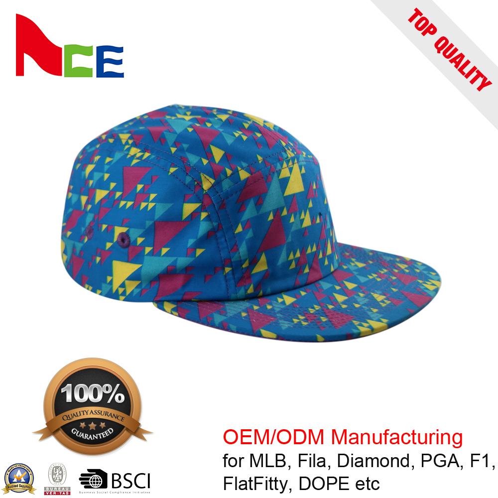 42e2051d6d8c7 China Printed 5 Panel Hat