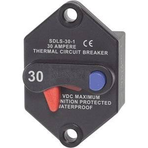 "Blue Sea Systems - Blue Sea Klixon Circuit Breaker Panel Mount 30 Amp ""Product Category: Electrical/Circuit Breakers"""