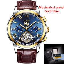 LIGE мужские часы лучший бренд класса люкс автоматические механические часы мужские часы турбийон водонепроницаемые спортивные часы Relogio ...(Китай)
