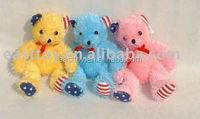 2016 China plush toy bear with pink t-shirt and logo stuffed plush animal teddy bear pattern
