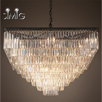 On Sale American Retro Vintage Modern Luxury Square Crystal - Vintage chandelier crystals for sale