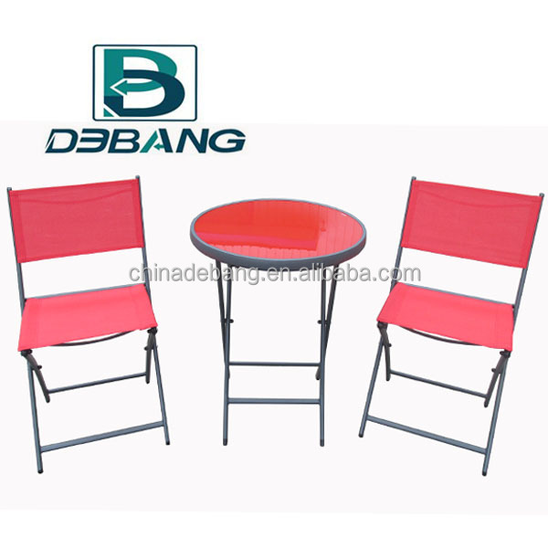 Outdoor Garden Furniture Set -- Folding Chair and Table Set
