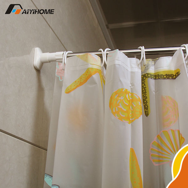 Telescopic L-shaped Shower Curtain Rod - Rooms