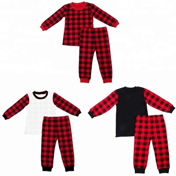 6c604a75c6 2018 Winter Sleepwear Black Red Kids Christmas Baby Pajamas ...