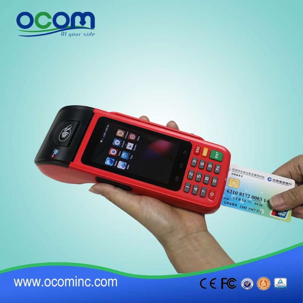 Android RFID 3g handheld pos terminal with card reader and printer