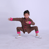 Children sport clothes set kung fu style for girls