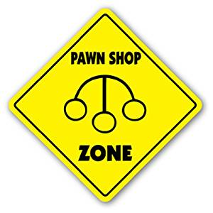 PAWN SHOP ZONE Sign xing gift novelty trade buy sell sale hawk Signage store
