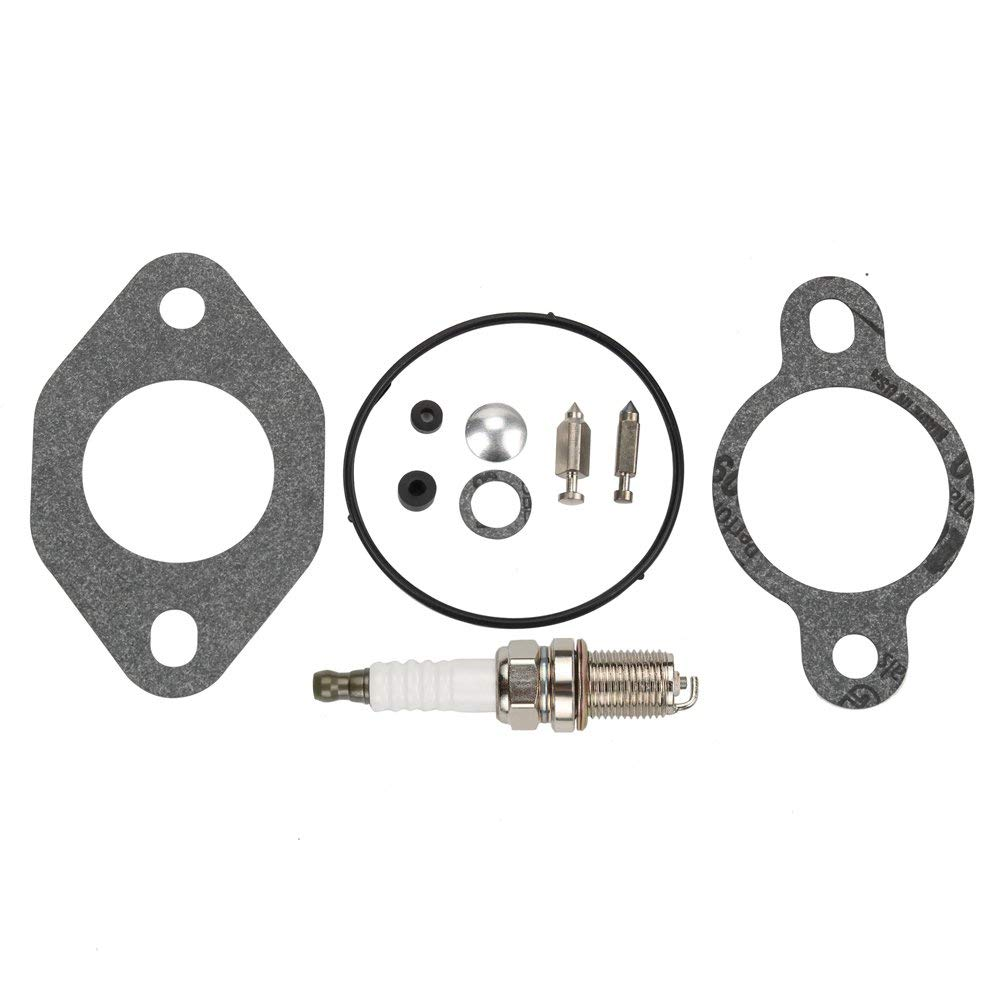Harbot 12 757 03-S Carburetor Rebuild Repair Kit with Spark Plug for Kohler CH11 CH12.5 CH13 CH14 CH15 CV11 CV12.5 CV13 CV14 CV15 CV16 CV460 CV490 Engine 12-757-03-S