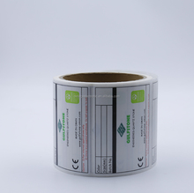 China supplier customized high-temperature anti-counterfeit private thermal label