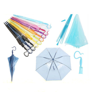 Hot sale new inventions transparent detachable umbrella DIY rain gear parasol with innovation handle