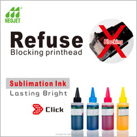 refillable bottle ink fabric dye sublimation ink compatible for Epson printer sportware printing