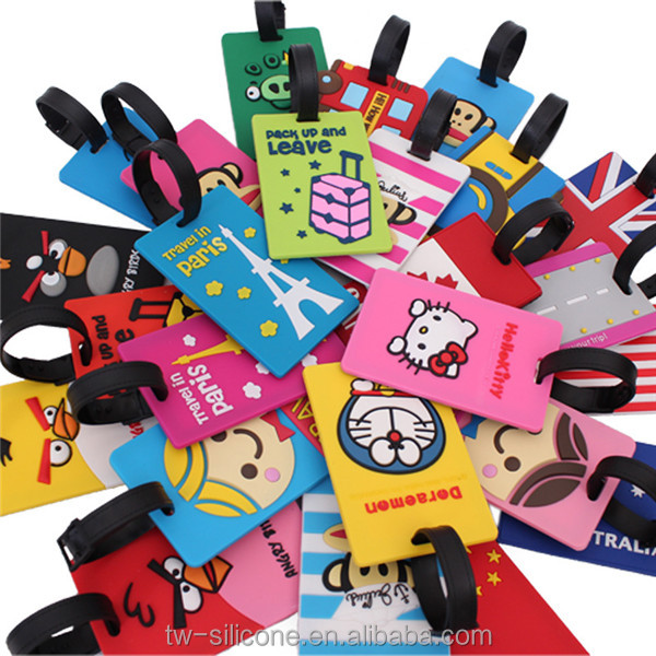 Customized 3D soft rubber bag tag/ pvc luggage tag