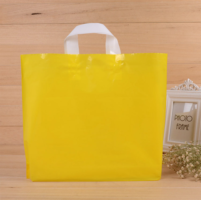 wholesale 100% Recyclable  soft Loop Plastic handle  Gift Retail  shopping  bags