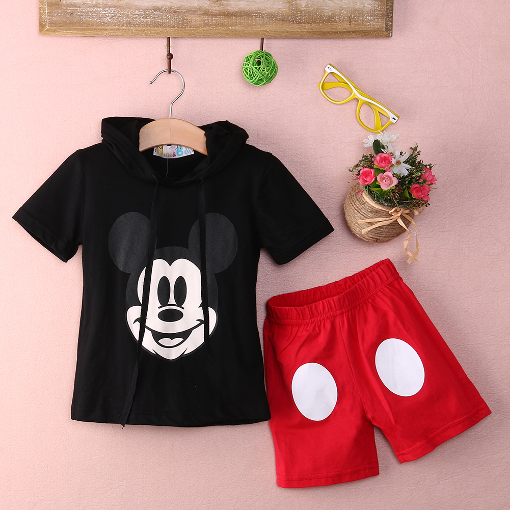 Baby Boy Cartoon clothing 2016 Summer Girls Kids Minnie Mouse Clothes Tops Dress tutu Pants Outfit