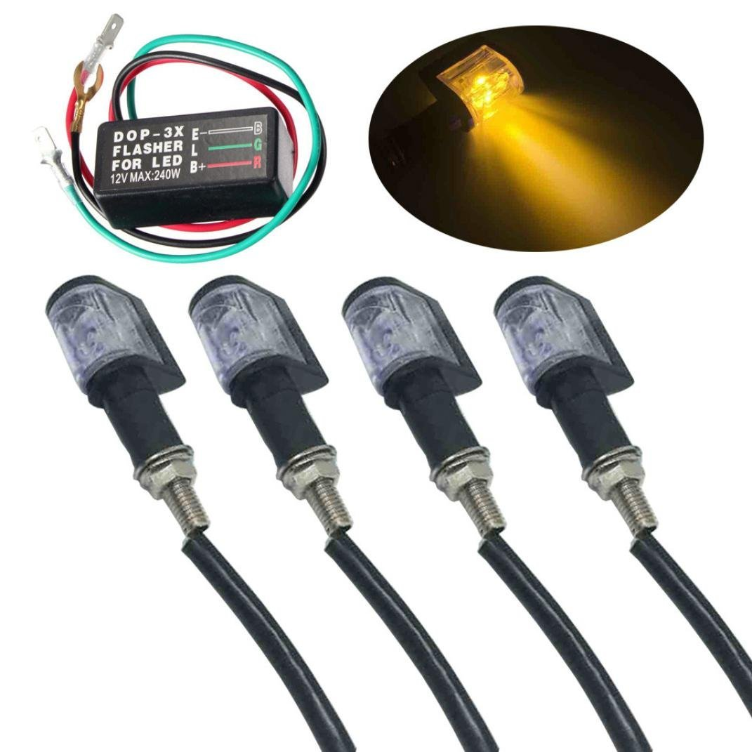 Cheap 6 Volt Flasher Relay Find Deals On Line 12 Led Circuit Click For Details Get Quotations Yrd Tech 4pcs 1led Universal Motorcycle Turn Signal Indicator Light
