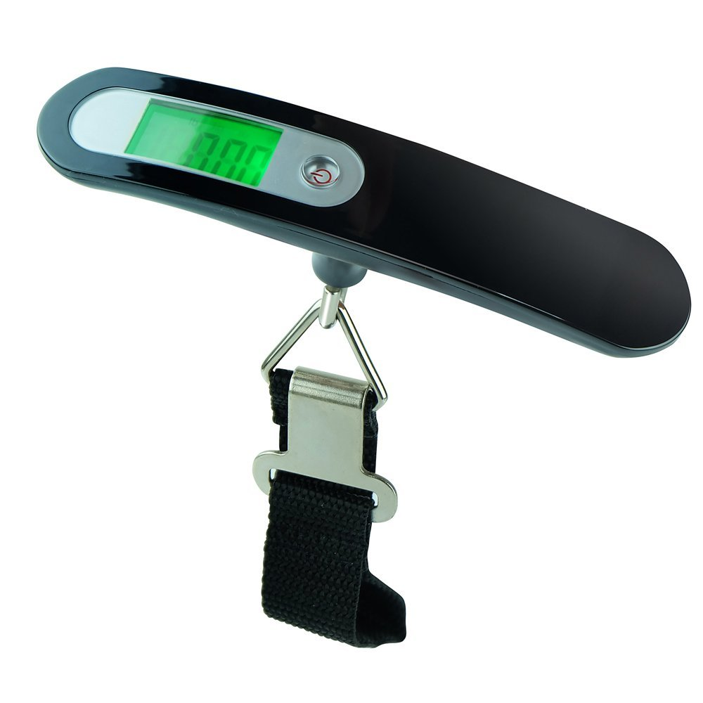 110 by 0.2 LB,Digital Travel Portable Luggage Baggage Suitcase Bag Weight Weighing Scale Digital LCD Display backlit Hook Scale Saitec /® Weigh Scales SC-LS-110 Digital LuGGaGe Scale