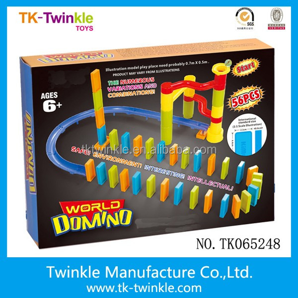 Plastic educational toy 56pcs colorful domino