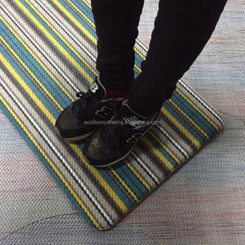 Anti Fatigue Fabric Textiles Mat For Kitchen Office Bathroom Custom Pvc  Foam Pad Comfort Floor Mat