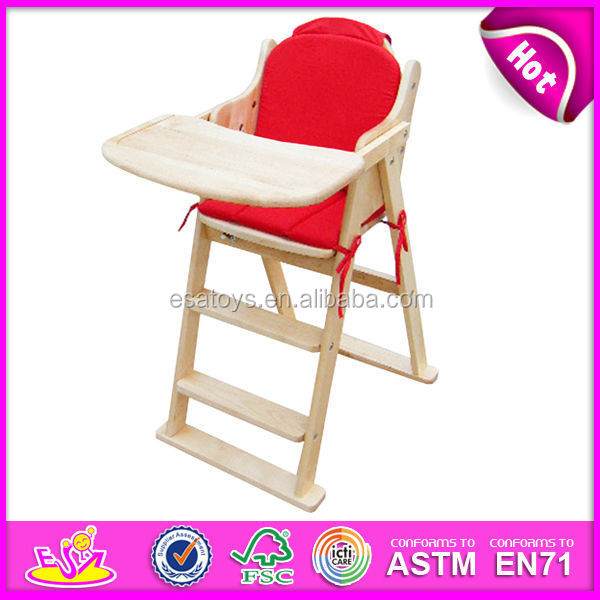 New Product Wooden baby High Chair for kids,Professional Wooden Baby High Chair for child,wooden Dining Chair for baby W08F012