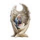 Mother Mary and Baby Jesus in Angel Wing Resin Nativity Statue Figurine