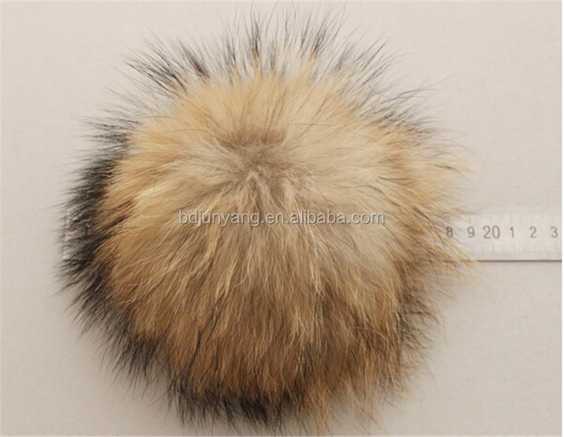 c318e57546049 Beanie Hat Raccoon Ball Pom Pom Raccoon Raccoon Fur Snap On Pompom ...
