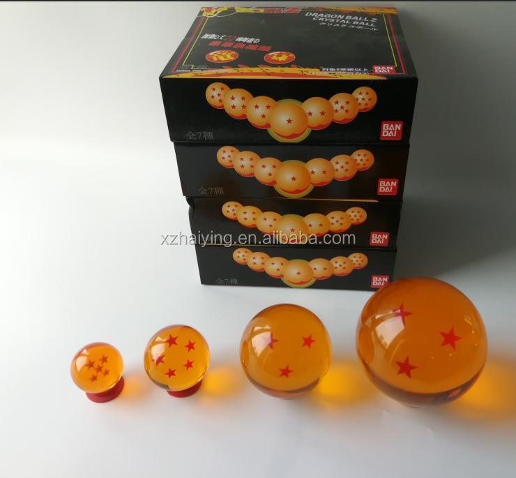 7pcs//Set 4.2cm Anime Dragon Ball Z Stars Crystal Balls Gift Collection With Box