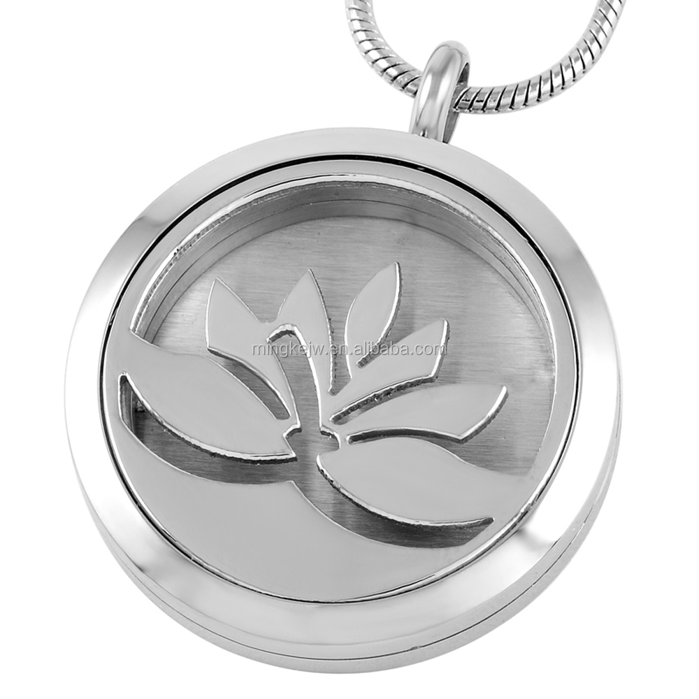 IJP0004 Wholesale cheap diffuser necklace, lotus diffuser locket, essential oil jewelry