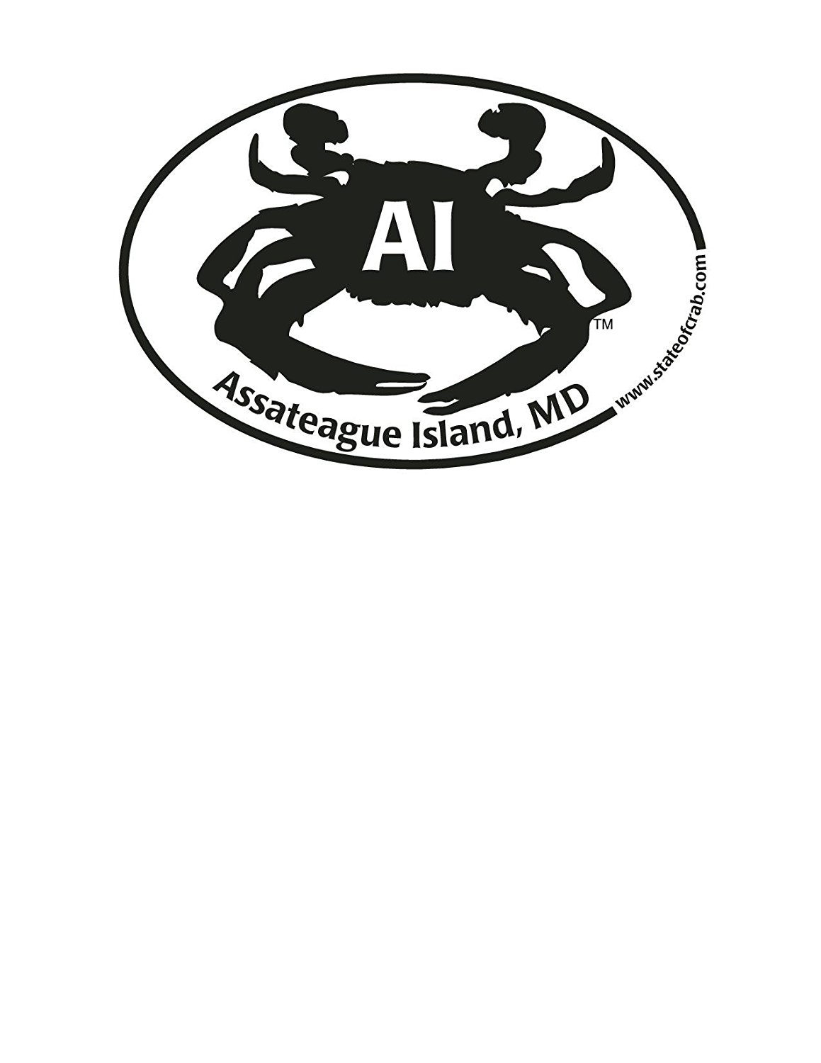 Get quotations · assateague island crab sticker decal by state of crab