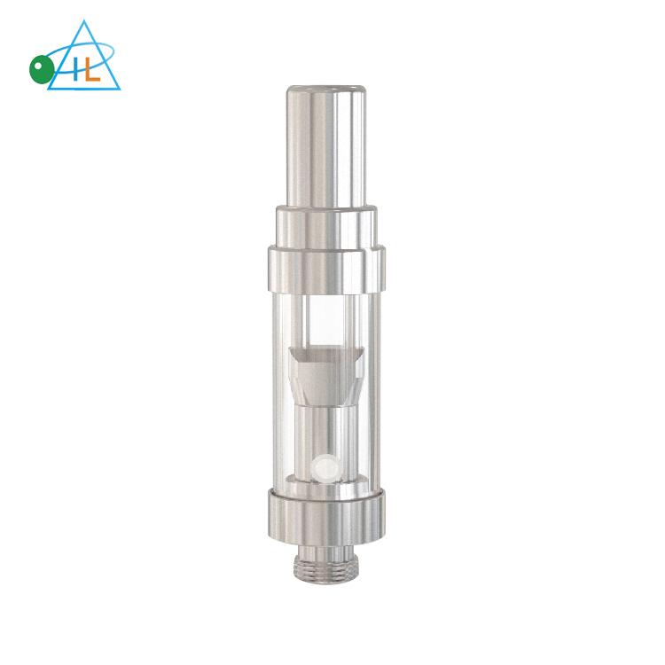 100PC 1.0ML GLASS CERAMIC WICKLESS EMPTY CARTRIDGE STAINLESS STEEL