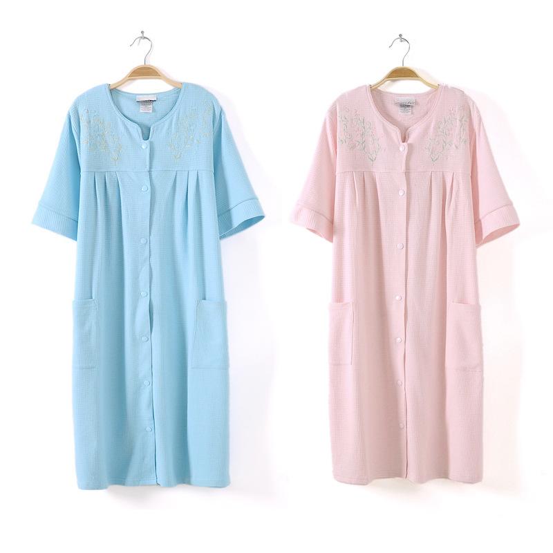 f61710820f Get Quotations · Foreign trade of the original single cotton waffle bathrobe  spa robe embroidered cotton bathrobe sauna has