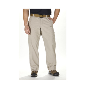 Khaki Men Washed Outdoor Cotton Chino Pants