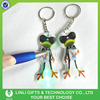 Promotional Giveaway Gifts Frog PVC Keychain With Light