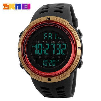Chinese Supplier Men Luxury Sport Wristwatch Skmei 1251 LED Digital Countdown Double Time Watch Fashion Alarm Watches Men